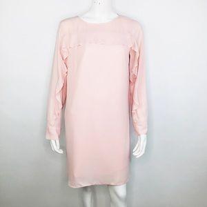 BANANA REPUBLIC RUFFLE YOKE SHIFT DRESS